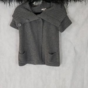 GRANE chunky knit gray open front sweater size M